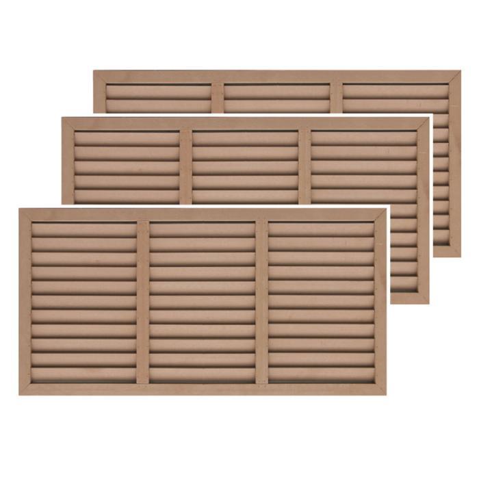 アイウッド人工木ルーバーラティスH60cm×W120cm3枚セットナチュラル ラティ・・・