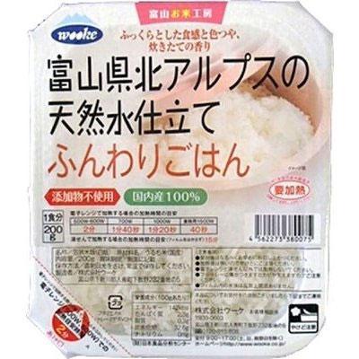 ウーケ 富山県北アルプスの天然水仕立て ふんわりごはん 国内産100%(200・・・