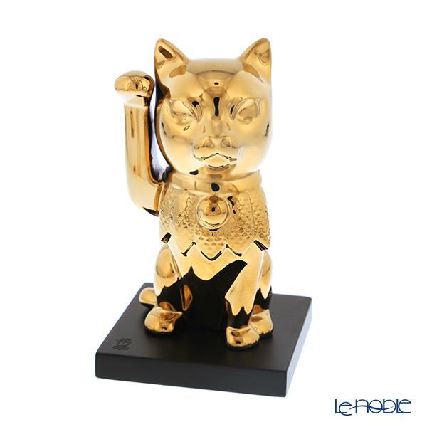 リヤドロ 招き猫 ゴールド 09305
