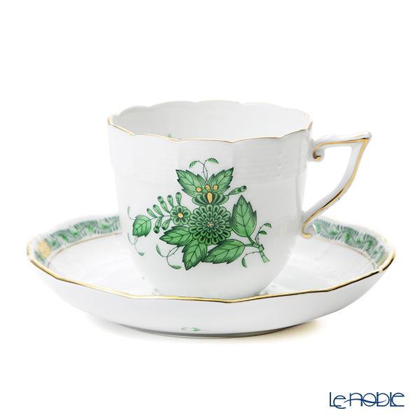 ヘレンド アポニーグリーン 00706-0-00/706 コーヒーカップ&ソーサー 160c・・・