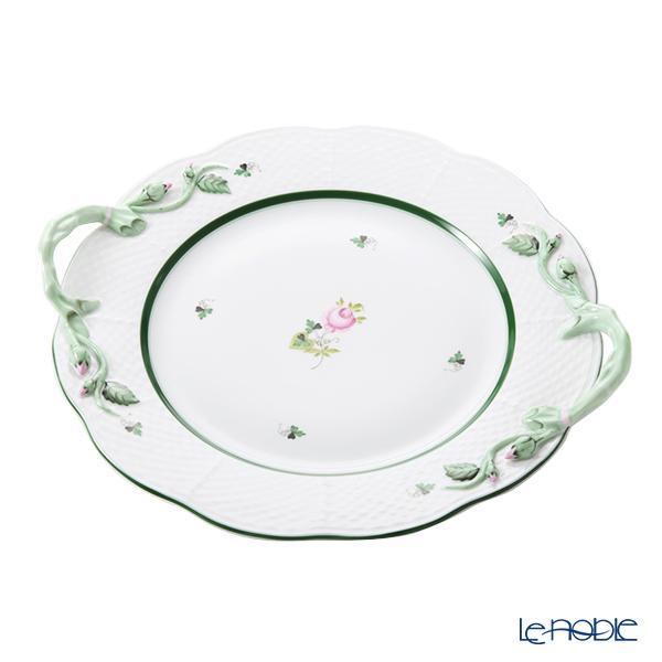 ヘレンド ウィーンのバラ VRH 丸ケーキプレート 29cm 00174-0-00