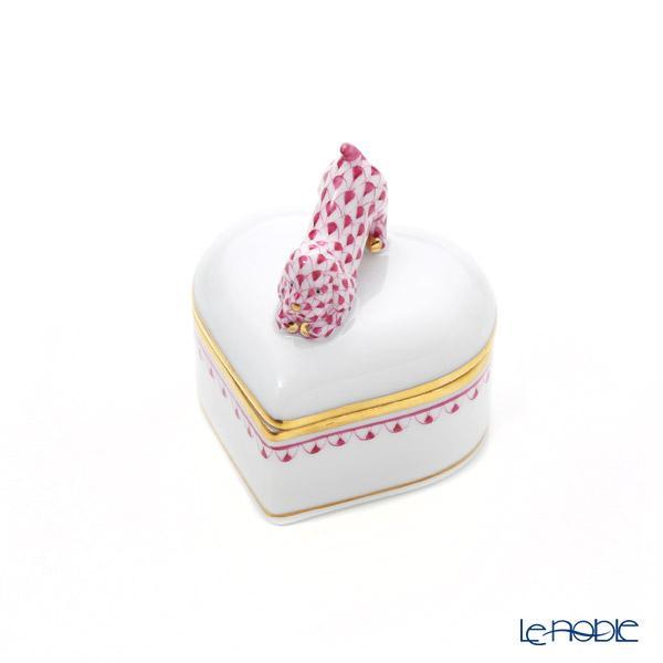 ヘレンド BVHP1 06112-0-91 ハートボックス(ドッグ) ピンク