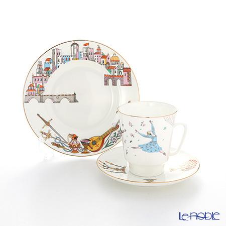 ロシア食器 インペリアル・ポーセリン バレエコレクション 3ピースセット ロ・・・