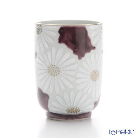 京焼・清水焼 湯呑 K0417 白菊紫地