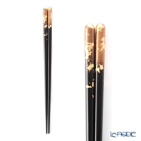 箔一 金の箸銀の箸 霞流し 茜(L) 23cm