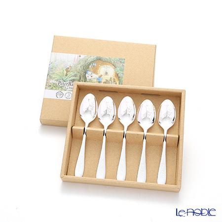 ピーターラビット PR-0250 皿中レーザー ティースプーン(銀仕上) 5本セッ・・・