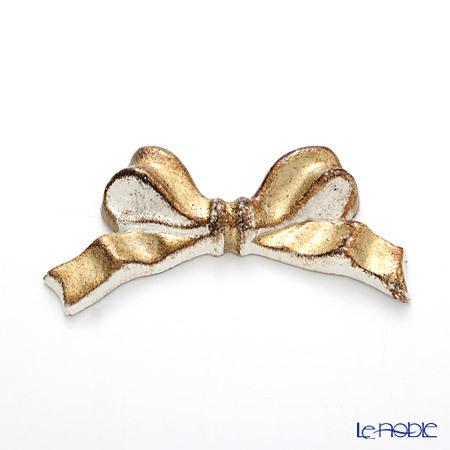 フィレンツェリボン ナイフレスト(箸置き) F8 ホワイト/ゴールドリボン