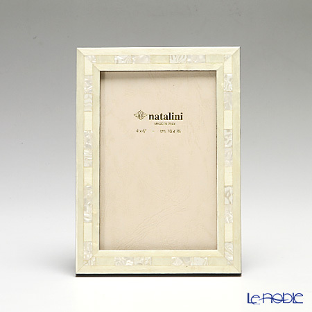 ナタリーニ 象嵌フォトフレーム 10×15cm QH/20 ホワイ・・・