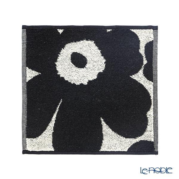 マリメッコ(marimekko) Unikko ウニッコ ミニタオル ブラック×ベージュ 25×・・・
