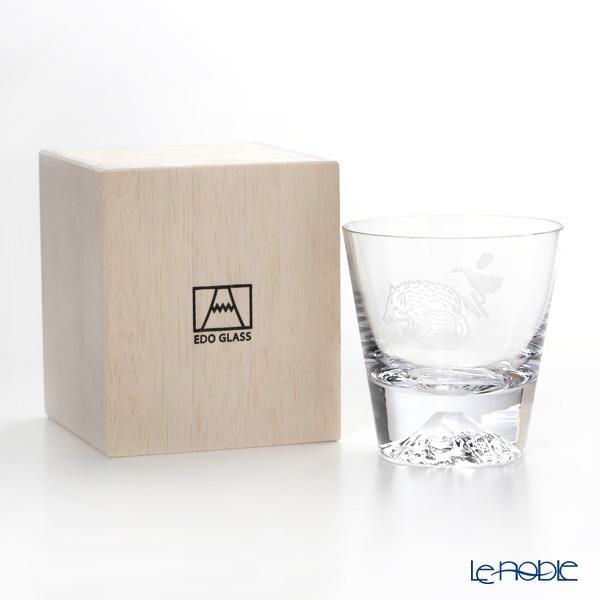 【伝統工芸】田島硝子 富士山グラス ロックグラス 干支 2019年亥 猪柄風呂敷・・・