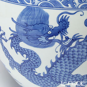 景徳鎮 青花龍珠缸 F2-14(大) 径31.5cm 黄 雲鵬 作 商品画像3:ブランド洋食器専門店 ル・ノーブル