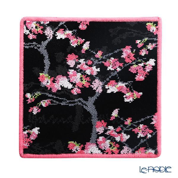 フェイラー ハンドタオル(ハンカチ) 桜(ヤマカワ) ブラック 25×25cm