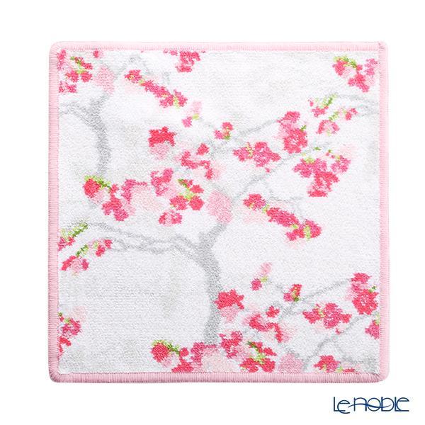 フェイラー ハンドタオル(ハンカチ) 桜(ヤマカワ) ホワイト 25×25cm