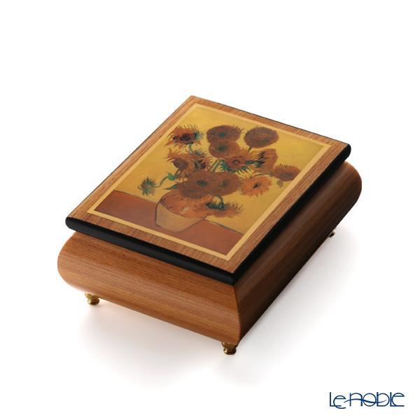 エルコラーノ イタリア アートオルゴール(花のワルツ) ゴッホ 「ひまわり」