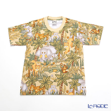 ジムトンプソン 子供服 Tシャツ S(4-7歳) アニマル ジャングル ベージ・・・