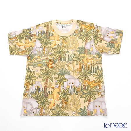 ジムトンプソン 子供服 Tシャツ M(8-11歳) アニマル ジャングル ベージュ