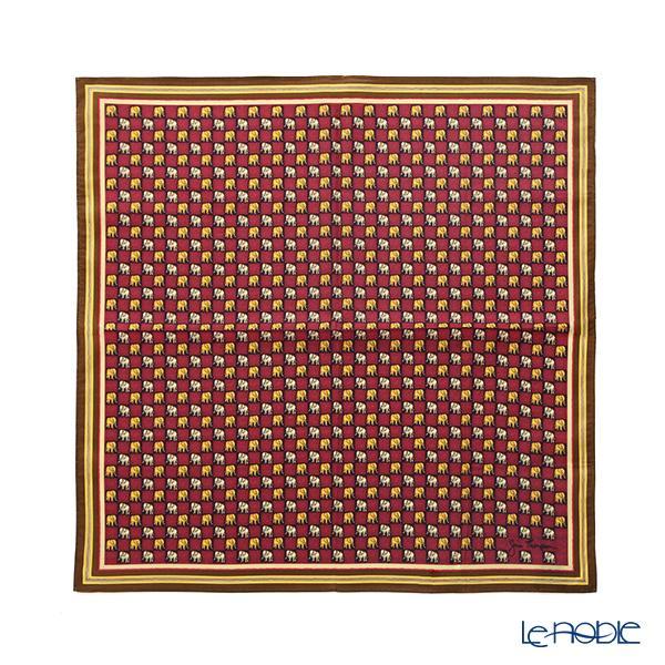 ジムトンプソン コットンハンカチ(L) 45×45cm ブラウンゾウ イン スクエアレ・・・