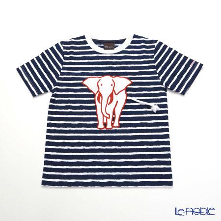 ジムトンプソン 子供服 Tシャツ S(4-7歳) ホワイトゾウ/ストライプ/ダーク・・・