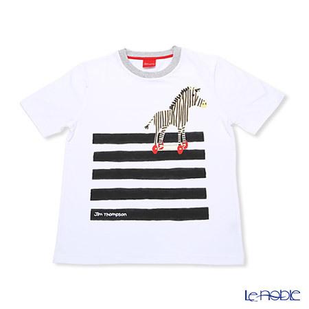 ジムトンプソン 子供服 Tシャツ S(4-7歳) シマウマ/ホワイト