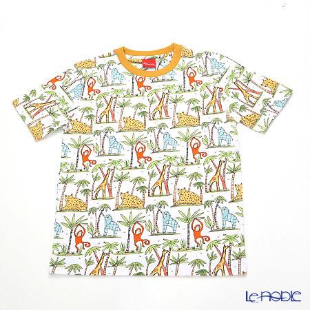 ジムトンプソン 子供服 Tシャツ M(8-11歳) ゾウ/モンキー/チーター/ジラフ