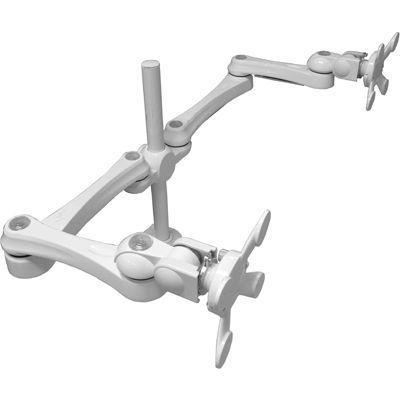 モダンソリッド 水平多関節アーム(クランプ取付)ホワイトモデル LA-515-1Q-WH・・・