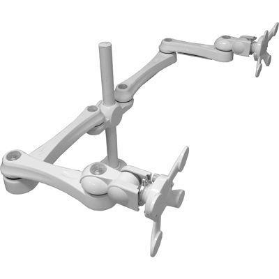 モダンソリッド 水平多関節アーム(クランプ取付)ホワイトモデル LA-515-4Q-WH・・・