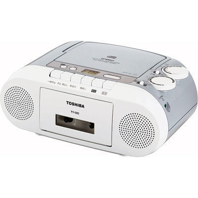 東芝 •FM補完放送も受信できるFMワイドバンド対応CDラジカセ ライトグレー・・・