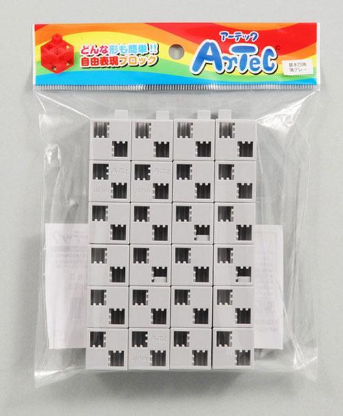 【アーテック】Artecブロック 基本四角 24P 薄グレー ※お取り寄・・・