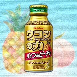 【ハウス食品】ウコンの力 パイン&ピーチ味 100mL 1本 ※お取り寄せ商品