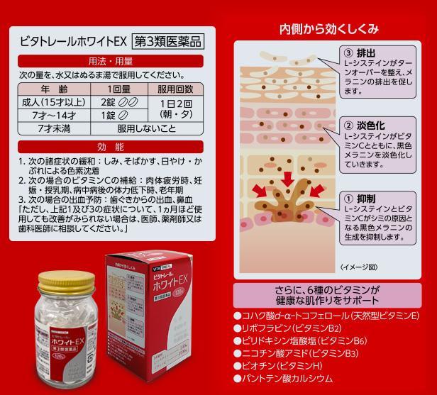 【第3類医薬品】ビタトレール ホワイトEX 120錠 (L-システイン配合・ビタミンC主薬製剤)  商品画像3:メディストック カーゴ店