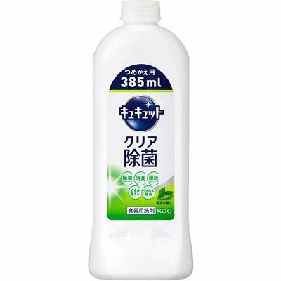 【花王】キュキュット クリア除菌 緑茶の香り つめかえ用 385ml ※・・・