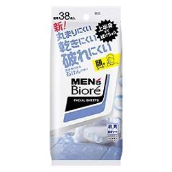 【花王】メンズビオレ 洗顔シート 清潔感のある石けんの香り 卓上用 38・・・
