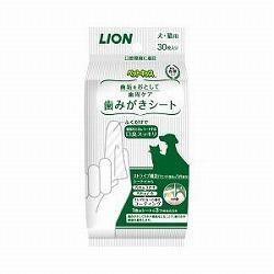 【ライオン商事】ペットキッス 歯みがきシート 30枚 ※お取り寄せ商品