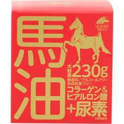 【ユニマットリケン】馬油クリーム+尿素 230g ※お取り寄せ商品