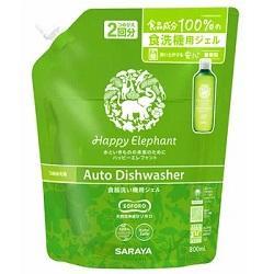 【サラヤ】ハッピーエレファント 食器洗い機用ジェル 詰替用 800ml ※・・・