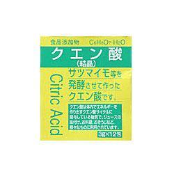 食品添加物 クエン酸 結晶 分包 3g×12包