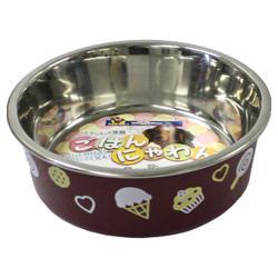 【ドギーマンハヤシ】ステンレス食器ごはんにゃわん 犬用 SS(茶) ※お・・・