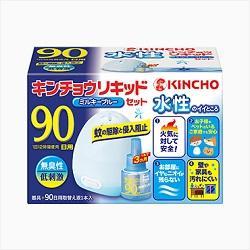 【大日本除虫菊】水性 キンチョウリキッド 90日用 無臭性 ミルキーブル・・・