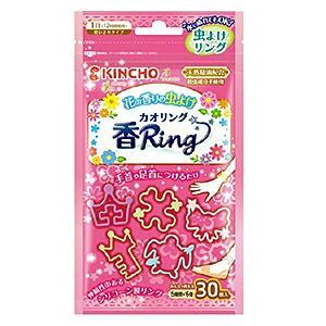 【大日本除虫菊】虫よけ カオリング「香Ring」(花の香り) ピンクN 形状5種・・・