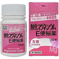 【第3類医薬品】【健栄製薬】酸化マグネシウムE便秘薬 180錠 ※お取り寄・・・