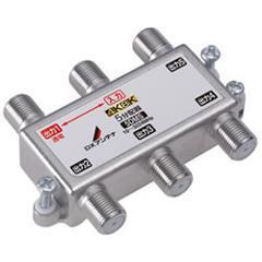 DXアンテナ【F5接栓付き】周波数帯域10~3224MHz 1端子電流通過 5分配器(4・・・