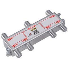 DXアンテナ【F5接栓付き】周波数帯域10~3224MHz 全端子電流通過 6分配器(・・・