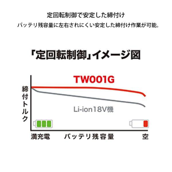 マキタ 充電式インパクトレンチ (TW001GRDX) 商品画像4:ニッチ・リッチ・キャッチKaago店