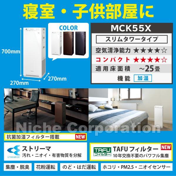 ダイキン 加湿ストリーマ空気清浄機 ホワイト (MCK55X-W) 商品画像5:ニッチ・リッチ・キャッチKaago店