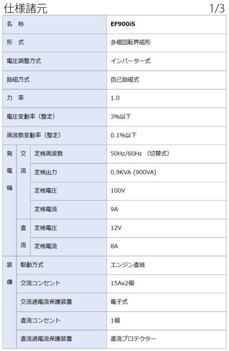 EF900IS) ヤマハ 発電機 EF900IS (発電機 インバーター) 商品画像6:ニッチ・リッチ・キャッチKaago店