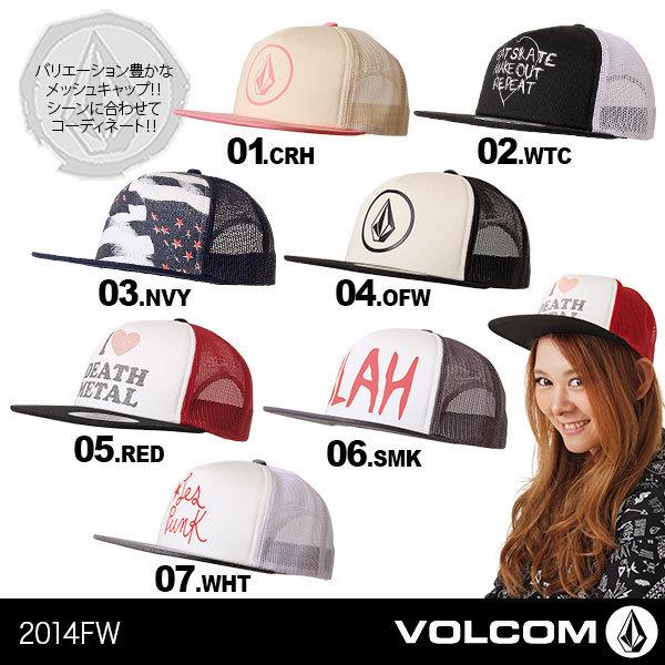 【VOLCOM/ボルコム】レディース スナップバックメッシュキャップ帽子{E55114・・・