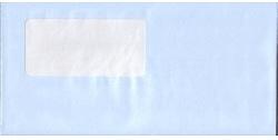 弥生 333101窓付封筒アクア(水色)200枚