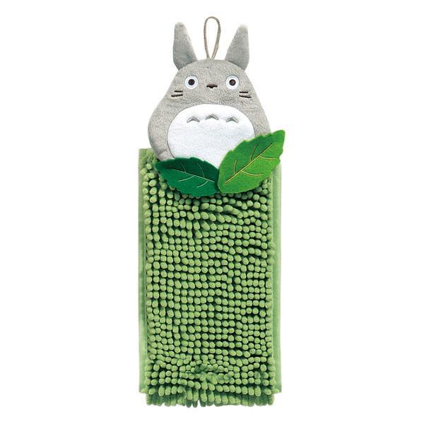 スタジオジブリ-森のトトロ-もこもこ洗える-お手ふき-(タオル)-グリーン-(となりのトトロ)