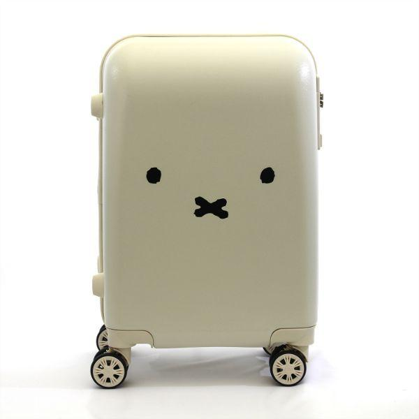 ミッフィー-miffy-スーツケース-フェイス-WH-キャリーケース--ホワイト-グッズ