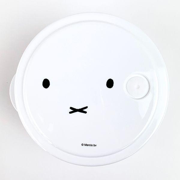 miffy-ミッフィー-薄肉ごはん保存容器Sお茶碗型-保存容器-キッチン-お顔-ホワイト-グッズ-日本製